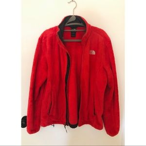 The North Face Red Zip-Up Fleece
